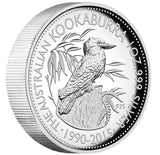 25TH ANNIVERSARY AUSTRALIAN KOOKABURRA 2015 1OZ SILVER PROOF HIGH RELIEF COIN - Kings Comics