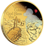 ANZAC SPIRIT - GOODBYE COBBER 2015 1/4OZ GOLD PROOF COIN