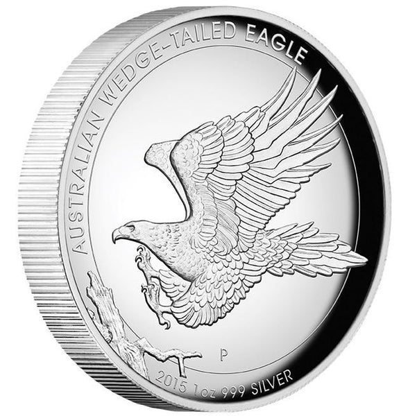 AUSTRALIAN WEDGE-TAILED EAGLE 2015 1OZ SILVER PROOF HIGH RELIEF COIN