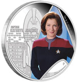 STAR TREK: VOYAGER - CAPTAIN KATHRYN JANEWAY 2015 1oz SILVER PROOF COIN