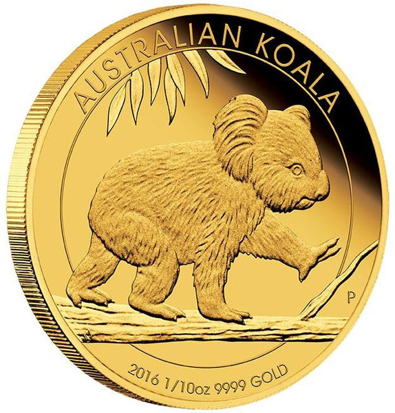 AUSTRALIAN KOALA 2016 1/10OZ GOLD PROOF COIN - Kings Comics