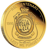 RSL CENTENARY 2016 1/4oz GOLD PROOF COIN