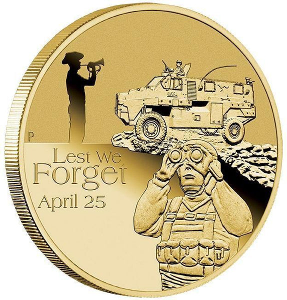 2016 ANZAC $1 COIN IN CARD