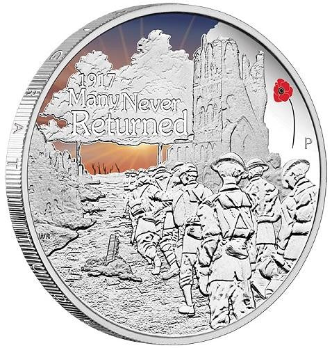 ANZAC SPIRIT 100TH ANNIV COIN SERIES – MANY NEVER RETURNED 2017 1oz SILVER PROOF COIN