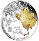 BABY ROOSTER 2017 1/2 oz SILVER COIN
