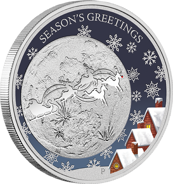 CHRISTMAS 2014 1/2OZ SILVER PROOF COIN