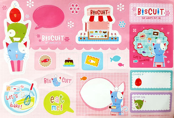 BC BISCUIT STICKER PINK