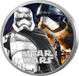 STAR WARS 2016 THE FORCE AWAKENS CAPTAIN PHASMA 1oz SILVER PROOF COIN