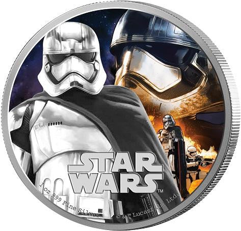 STAR WARS 2016 THE FORCE AWAKENS CAPTAIN PHASMA 1oz SILVER PROOF COIN - Kings Comics