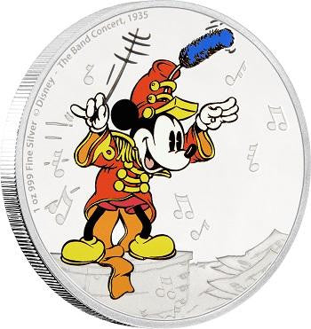 DISNEY MICKEY THROUGH THE AGES - THE BAND CONCERT 1oz SILVER COIN