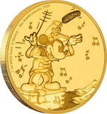 DISNEY MICKEY THROUGH THE AGES - THE BAND CONCERT 1oz GOLD COIN