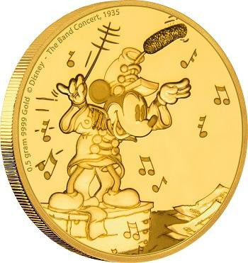 DISNEY MICKEY THROUGH THE AGES - THE BAND CONCERT 0.5 GRAM GOLD COIN
