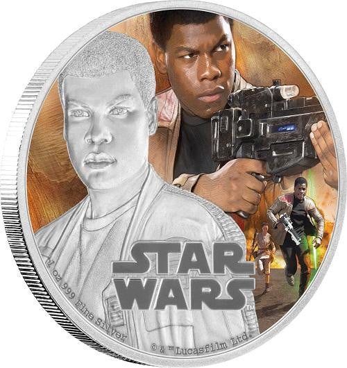STAR WARS 2016 FINN 1oz SILVER PROOF COIN - Kings Comics
