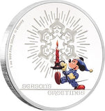 DISNEY CLASSIC SEASONS GREETINGS 2016 1oz SILVER PROOF COIN