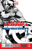 CAPTAIN AMERICA VOL 7 #1 QUESADA SKETCH VAR NOW - Kings Comics