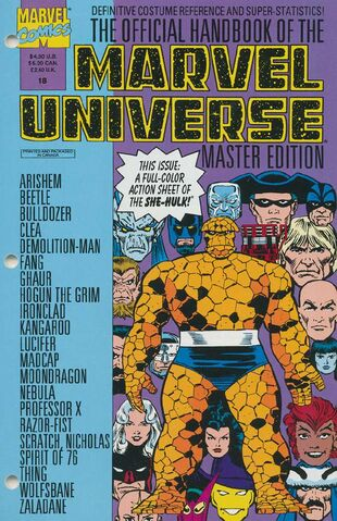 OFFICIAL HANDBOOK OF THE MARVEL UNIVERSE MASTER EDITION (1990) #18 - Kings Comics