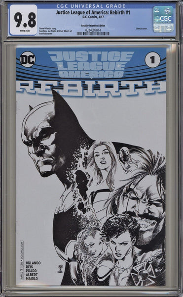 CGC JUSTICE LEAGUE OF AMERICA: REBIRTH #1 RETAILER INCENTIVE EDITION (9.8)