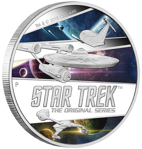 STAR TREK: THE ORIGINAL SERIES - SHIPS 2018 2oz SILVER PROOF COIN