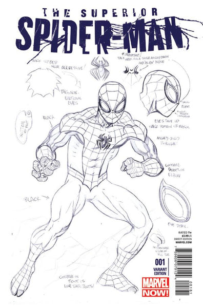 SUPERIOR SPIDER-MAN #1 DESIGN MCGUINNESS VAR NOW