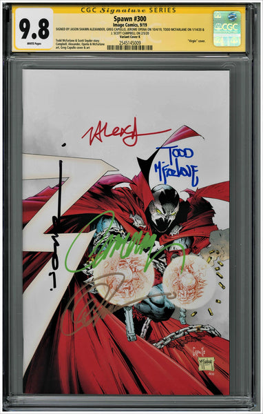 CGC SPAWN #300 VARIANT COVER K (9.8) SIGNATURE SERIES - SIGNED BY MCFARLANE, CAMPBELL, CAPULLO, ALEXANDER & OPENA