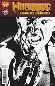 WITCHBLADE DEMON REBORN #2 10 COPY CALERO B&W INCV