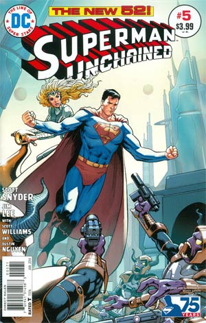 SUPERMAN UNCHAINED #6 75TH ANNIV VAR ED BRONZE AGE