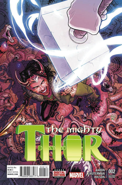 MIGHTY THOR VOL 2 #2 DAUTERMAN 2ND PTG VAR