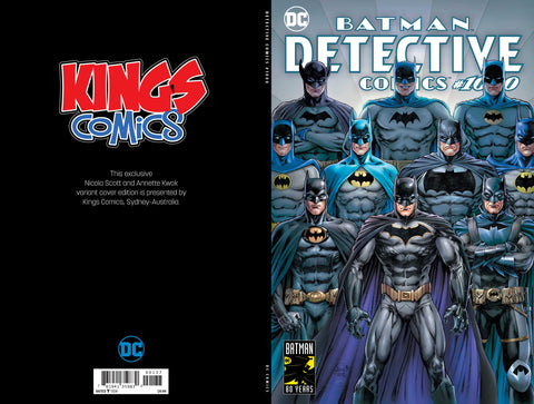 DETECTIVE COMICS VOL 2 #1000 EXCLUSIVE KINGS COMICS NICOLA SCOTT VAR ED