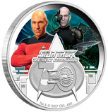 STAR TREK: THE NEXT GENERATION 30th ANNIVERSARY 2017 1oz SILVER PROOF COIN - Kings Comics