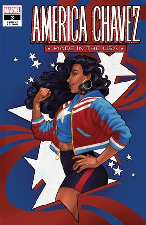 AMERICA CHAVEZ MADE IN USA #3 COLA VAR (ONE PER CUSTOMER)