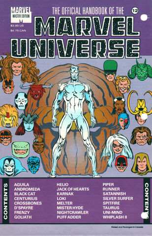 OFFICIAL HANDBOOK OF THE MARVEL UNIVERSE MASTER EDITION (1990) #12 - Kings Comics