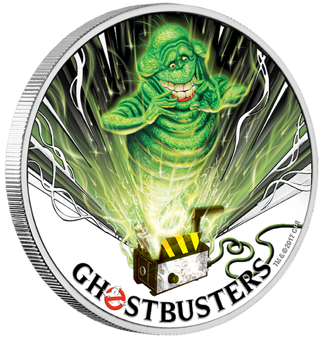 GHOSTBUSTERS SLIMER 2017 1OZ SILVER COIN