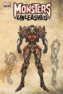 MONSTERS UNLEASHED #3 YU MONSTER VAR