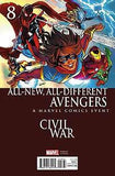 ALL NEW ALL DIFFERENT AVENGERS #8 LAND CIVIL WAR VAR ASO