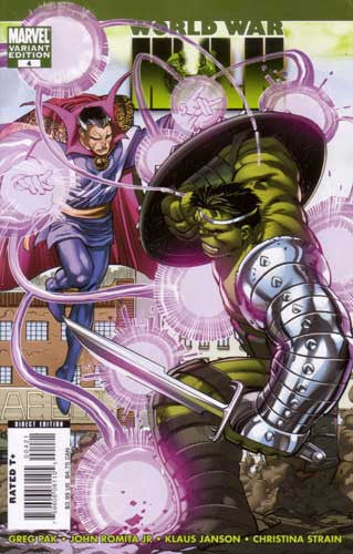 WORLD WAR HULK #4 ROMITA JR VAR