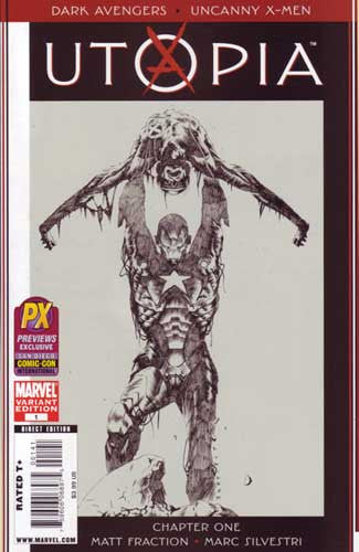 SDCC 2009 DARK AVENGERS UNCANNY X-MEN UTOPIA #1 VAR