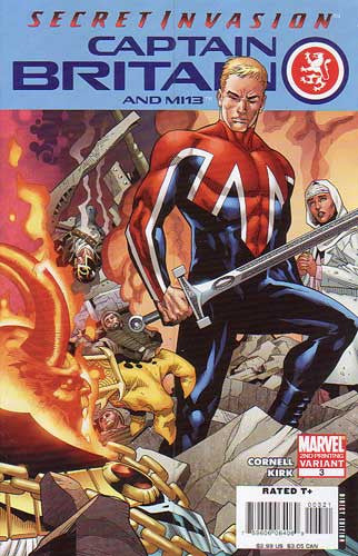 CAPTAIN BRITAIN AND MI 13 #3 2ND PTG