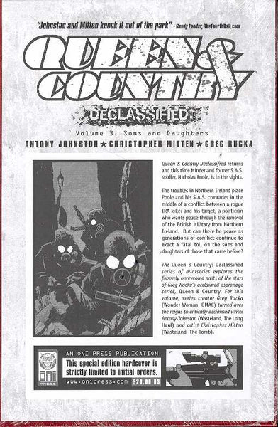 QUEEN & COUNTRY DECLASSIFIED VOL 3 HC (M