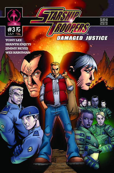 STARSHIP TROOPERS DAMAGED JUSTICE #3 TONG CVR