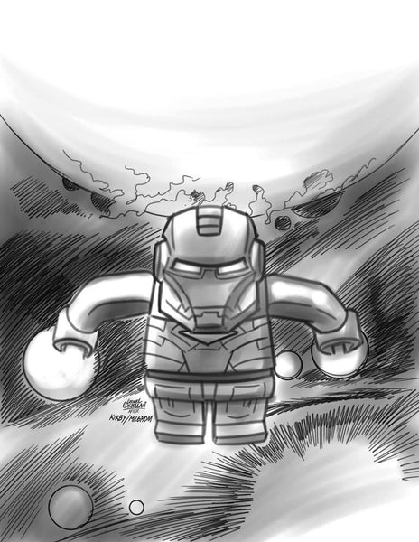 GUARDIANS OF GALAXY VOL 3 #7 CASTELLANI LEGO SKETCH VAR