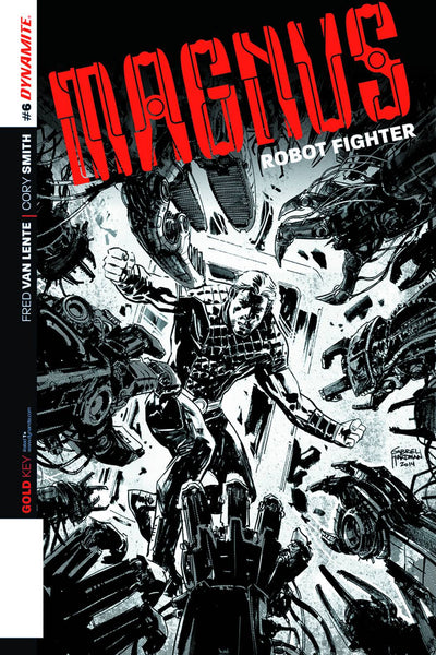 MAGNUS ROBOT FIGHTER VOL 4 #6 10 COPY HARDMAN B&W INCV
