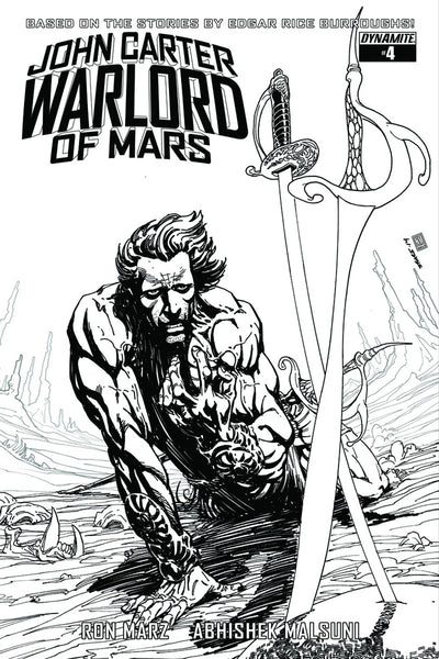 JOHN CARTER WARLORD #4 10 COPY SEARS B&W INCV