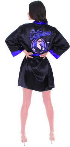 DC BOMBSHELLS CATWOMAN PX SATIN ROBE SM/MED