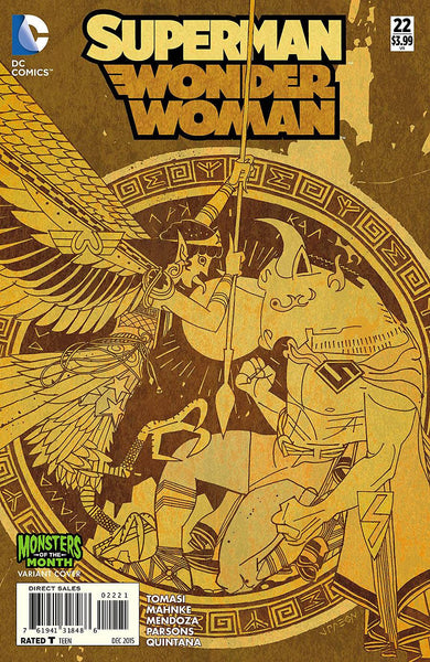 SUPERMAN WONDER WOMAN #22 MONSTERS VAR ED