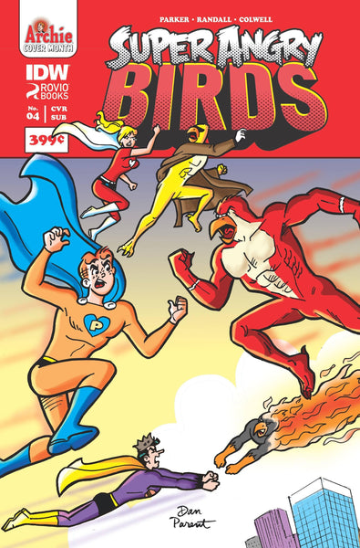 ANGRY BIRDS SUPER ANGRY BIRDS #4 ARCHIE 75TH ANNV VAR