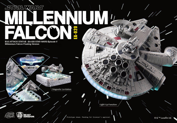 STAR WARS EPV EGG ATTACK FLOATING MILLENNIUM FALCON