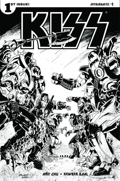 KISS VOL 3 #1 CVR J 10 COPY BAAL B&W INCV