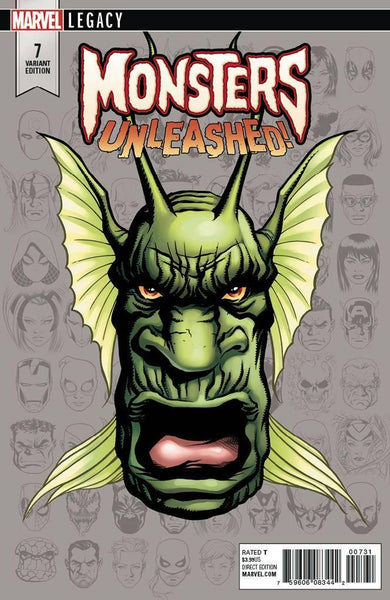 MONSTERS UNLEASHED VOL 2 #7 MCKONE LEGACY HEADSHOT VAR LEG
