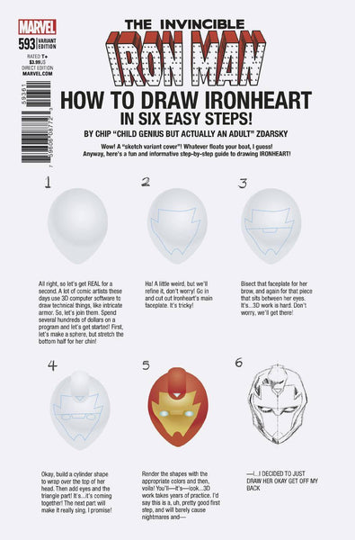 INVINCIBLE IRON MAN VOL 3 #593 ZDARSKY HOW TO DRAW VAR LEG