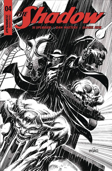 SHADOW VOL 7 #4 CVR E 20 COPY MANDRAKE B&W INCV
